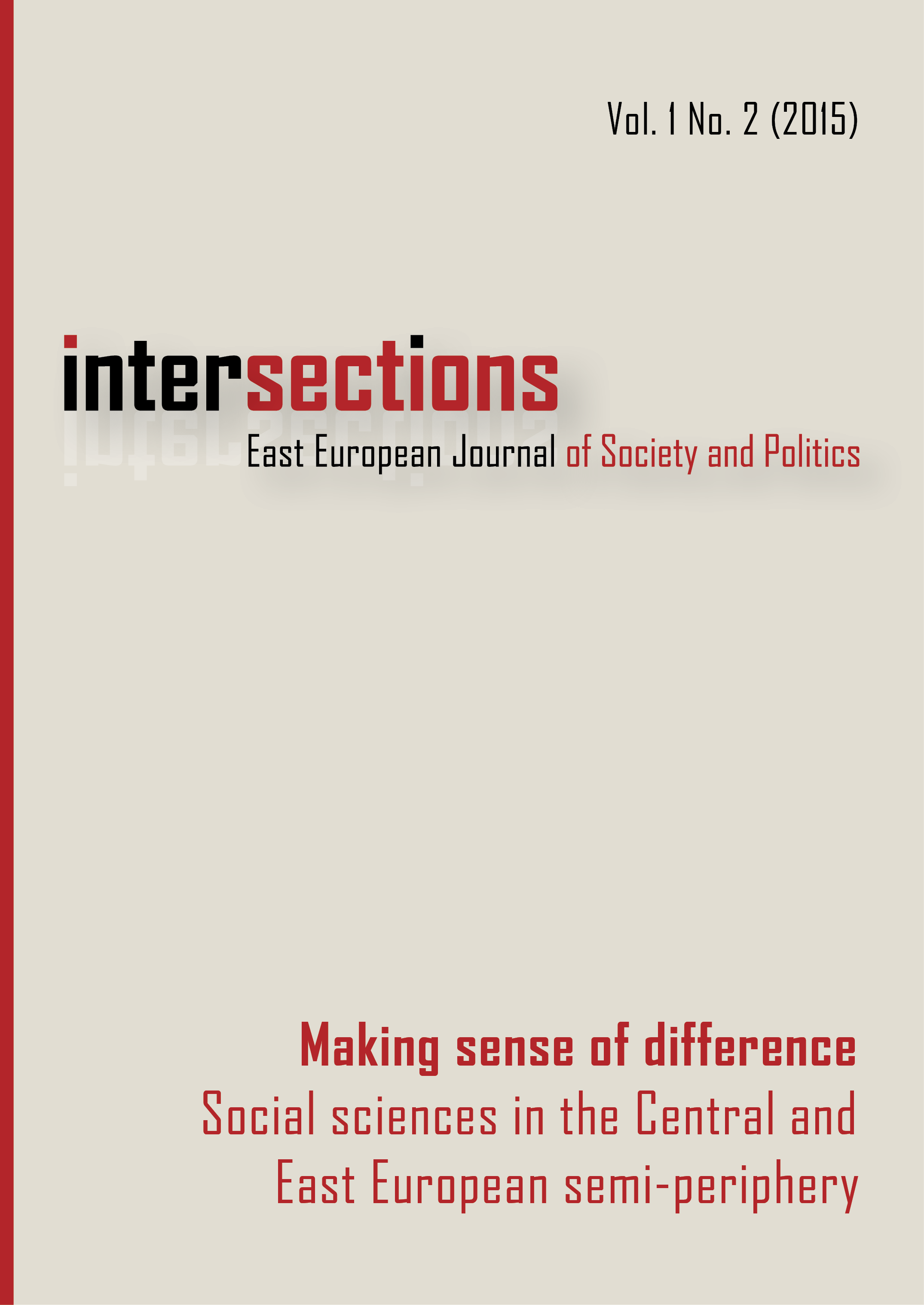 View Vol. 1 No. 2 (2015): Making Sense of Difference