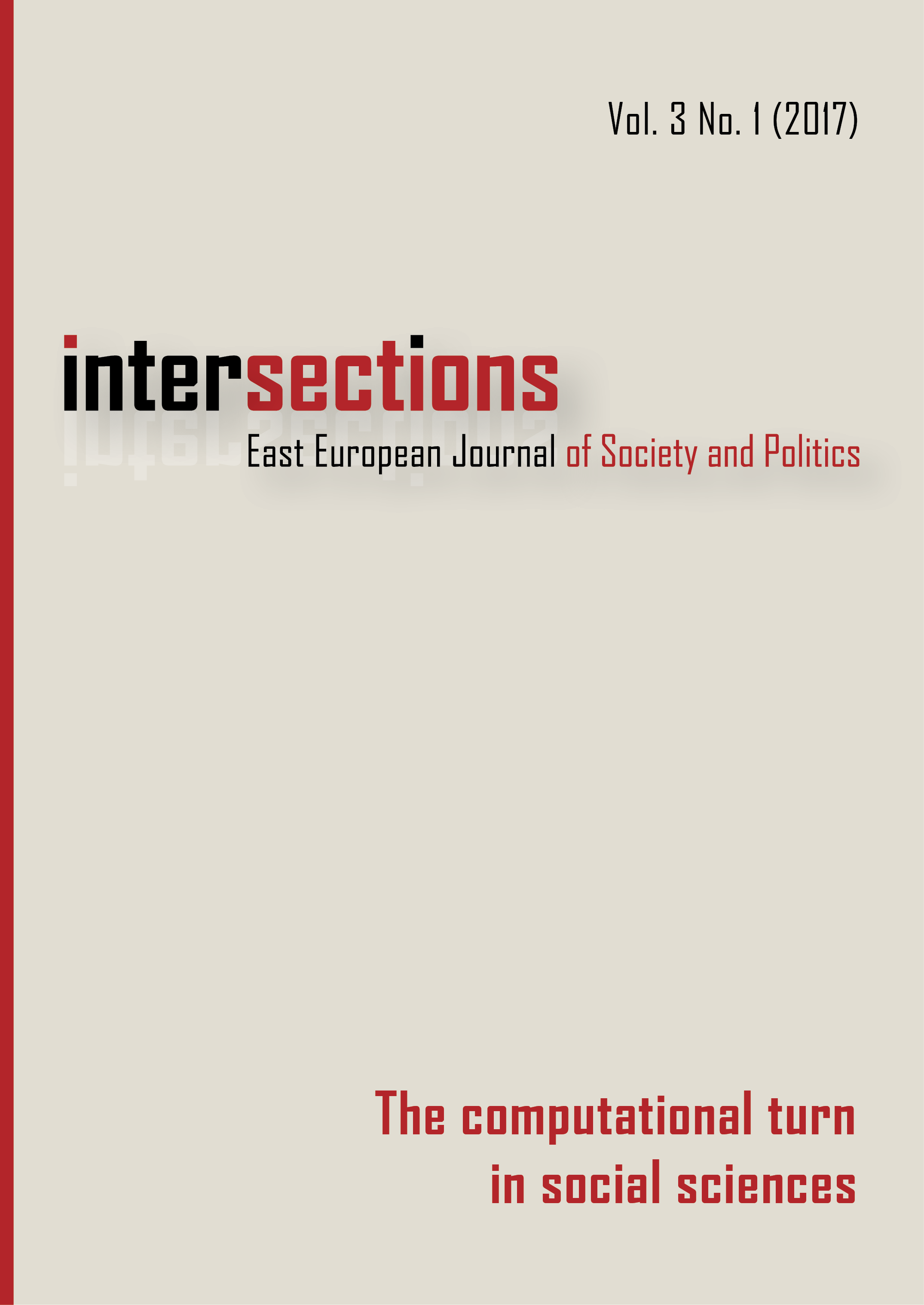 View Vol. 3 No. 1 (2017): The Computational Turn in Social Sciences